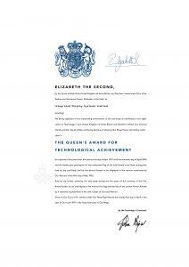 Queen's Award For Enterprise 1997