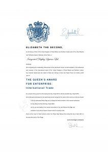 Queen's Award For Enterprise 2014